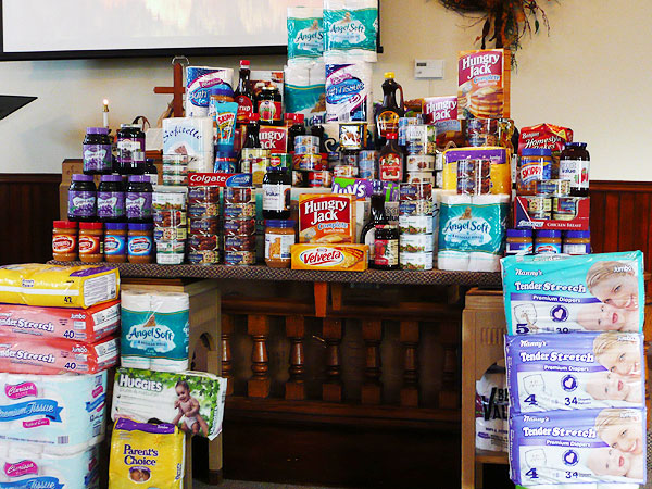 "Items Donated to the ""Helping Hands"" Program"